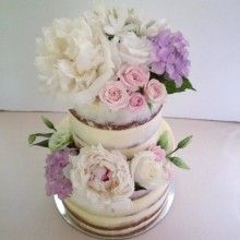 Two Tier Semi Scrapped Naked Cake