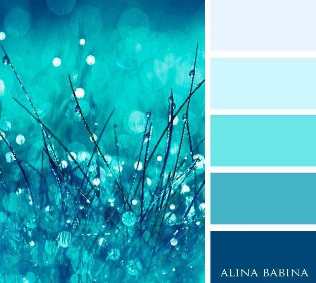 Teals And Blues With Images Blue Color Schemes Beach Color