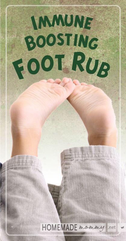 Immune Boosting Foot Rub | 20 drops fractionated coconut oil, 10 drops On Guard, 10 drops Oregano essential oil.