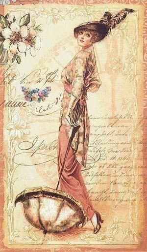 1000 ideas about vintage ladies on pinterest victorian ladies handkerchiefs and postcards - Vintage bilder kostenlos ...