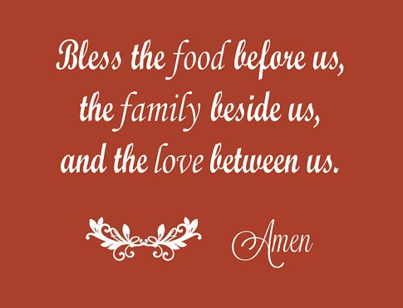 Kitchen Quote Wall Decal  Bless the Food Before by LCvinyldesigns, $19.00