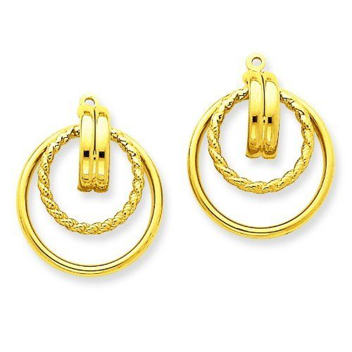 14k Yellow Gold Polished & Twisted Fancy Earring Jackets. Gold Wt- 1.76g. Jewelry Pot. $152.99. Your item will be shipped the same or next weekday!. 30 Day Money Back Guarantee. All Genuine Diamonds, Gemstones, Materials, and Precious Metals. Fabulous Promotions and Discounts!. 100% Satisfaction Guarantee. Questions? Call 866-923-4446. Save 61% Off!