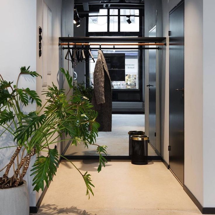 """""""Every little detail in our new office is sooo stylish ✨"""" - ESNY Gothenburg In this picture you can see Hanger.37 in charcoal black"""