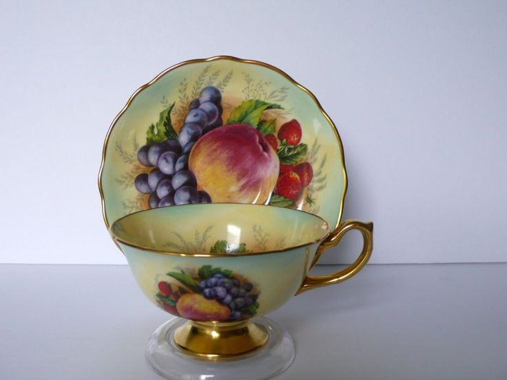 Hammersley Fruits Bone China Tea Cup & Saucer Set FOR SALE • CAD $225.00 • See Photos! &...