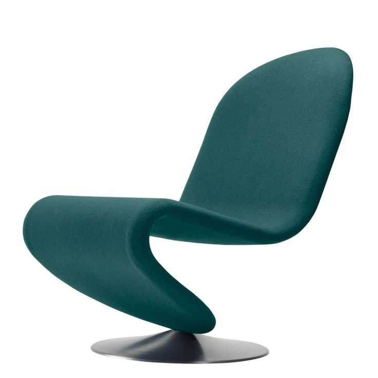 Verner Panton - System 1-2-3 lounge stol - stof