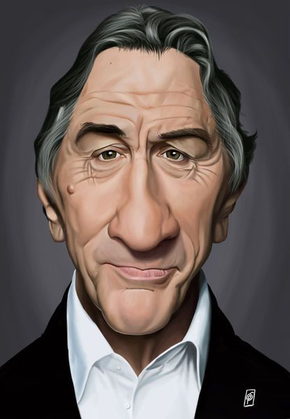 'Celebrity Sunday - Robert De Niro' by rob-art on artflakes.com as poster or art print $15.68 art | decor | wall art | inspiration | caricatures | home decor | idea | humor | gifts