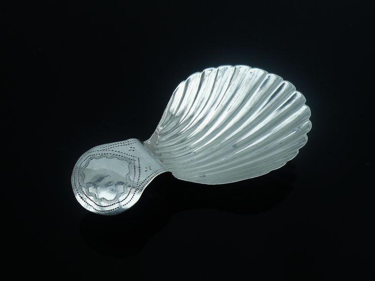 Silver Caddy Spoon, John Turner, Birmingham c.1798 | DartSilver LTD