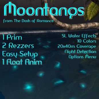 Second Life Marketplace - Dash of Romance Moontangs Glow Fish