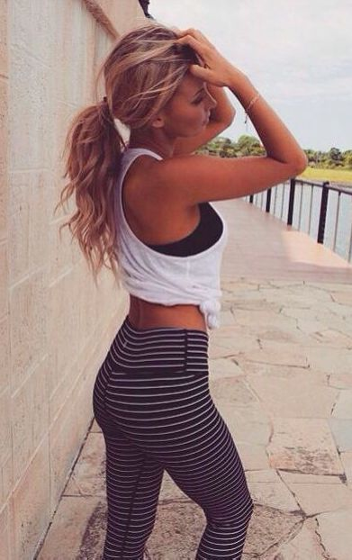 striped workout pants Workout Clothes for Women | Yoga Clothes | Gym Clothes | #...