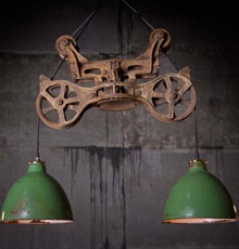 The Stuff Is Picked From Trash Curbside Business Called Rustoration Love It This Beauty Bubba Hay Carrier Hanging Lamp