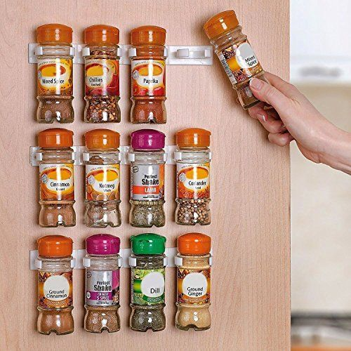 Authentic Home-it Spice Rack, Spice Racks for 20 Cabinet Door, Use Spice Clips for Spice Organizer Spice Storage Spice Clips, ,