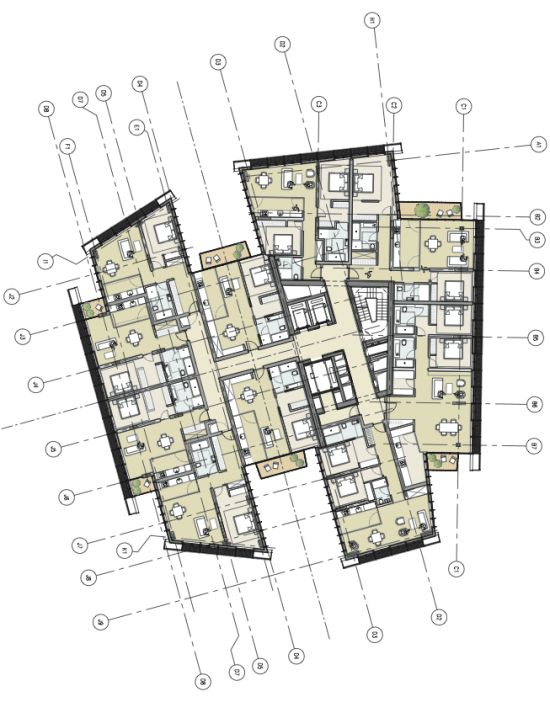 1392 best renzo piano images on pinterest renzo piano for Apartment hotel plans