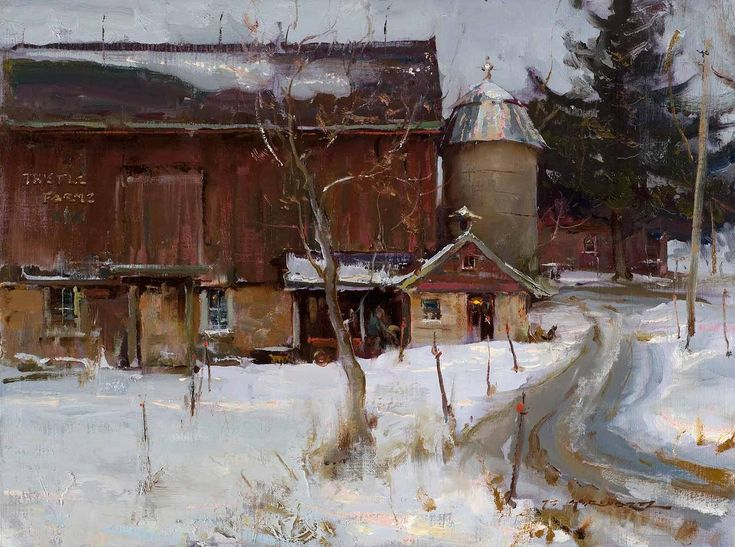 Dan Gerhartz is known for his romantic oil paintings of the land.
