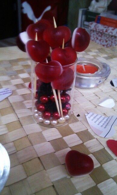 Valentines decoration. Www.slubnawzorcownia.blogspot.com