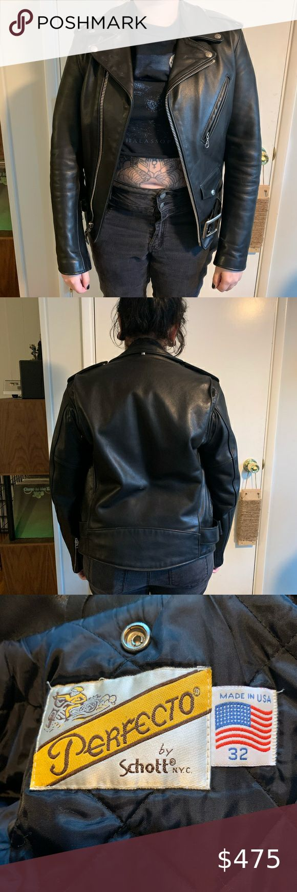 Schott Perfecto 118 Size 32 Super Clean Jacket Have Owned For 5 Years Purchased From The Schott Store In La Size 32 Min Leather Jacket Jackets Mens Jackets [ 1740 x 580 Pixel ]