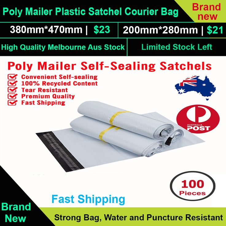 Poly Mailer Plastic Satchel Courier Self Sealing Shipping Bag Satchet Recycable  Strong Bag, Water and Puncture Resistant, Made from 100% recycled content