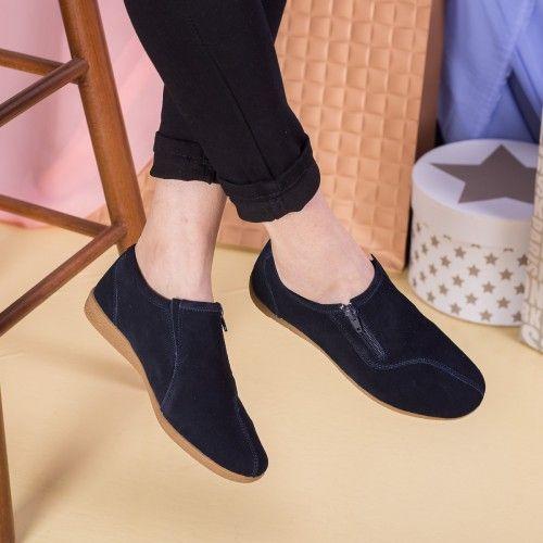 Pantofi dama Piele Keira bleumarin casual