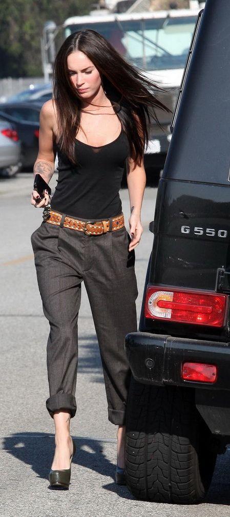 Megan Fox street style.