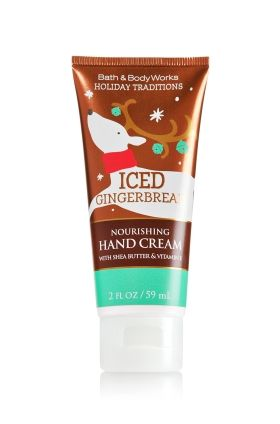 Iced Gingerbread - Nourishing Hand Cream - Bath & Body Works - A winter must-have! Moisturizing Shea Butter and Vitamin E absorb quickly to leave hands feeling soft, smooth, luxuriously nourished & lightly scented.