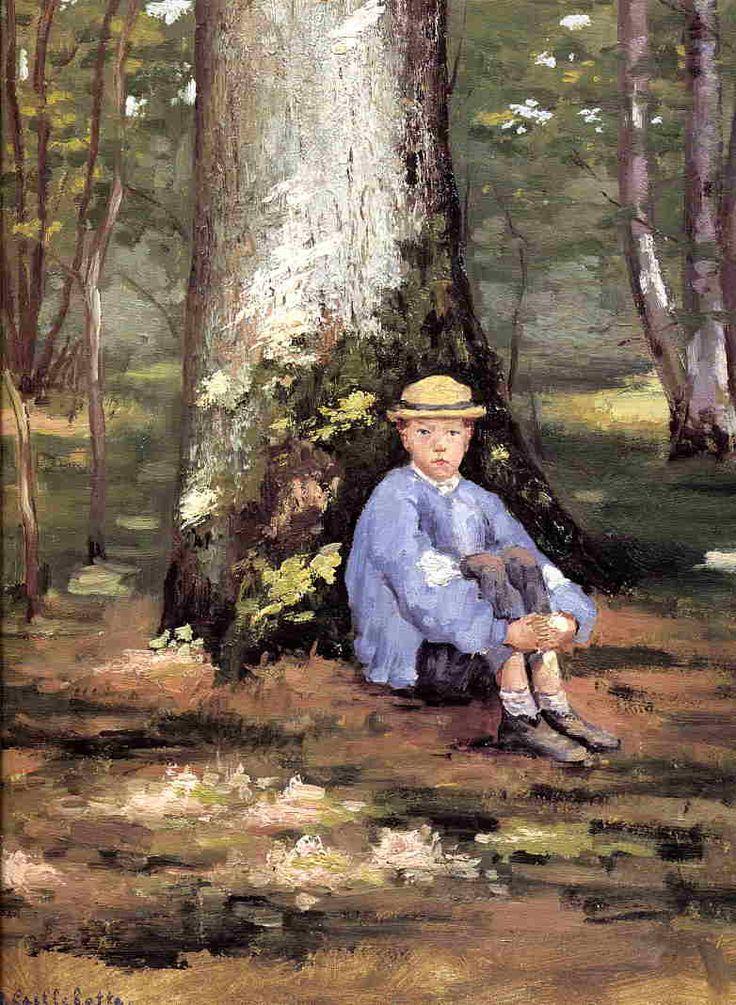 Yerres, Camille Daurelle under an Oak Tree - Gustave Caillebotte