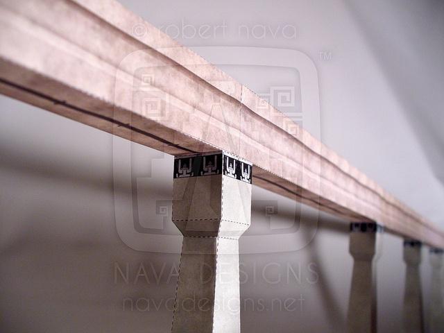 Disneyland—Monorail Mark VII paper model.