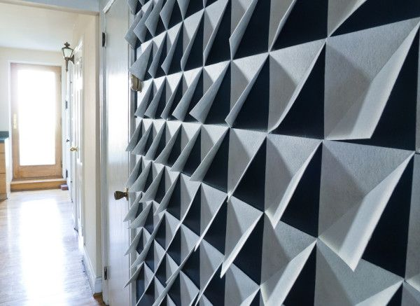 Make it Modern: DIY 3D Felt Wall Panels in interior design home furnishings art Category