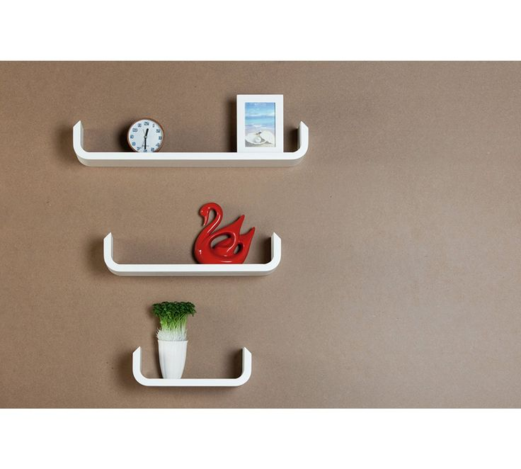 Buy Snowboard Pack of 3 Shelfie - White at Argos.co.uk, visit Argos.co.uk to shop online for Wall mounted and floating shelves, Living room furniture, Home and garden