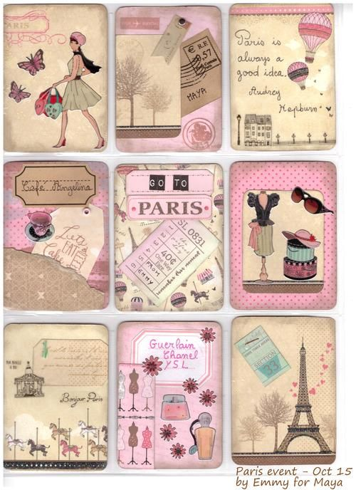 Paris pocket letter made by Emmy - Pretty Little Things
