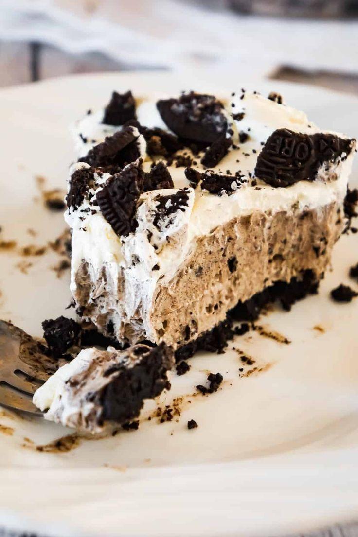 Oreo Pie ist ein einfaches No-Bake-Dessert-Rezept mit Vanille-Instant-Pudding und … – Delicious Desserts