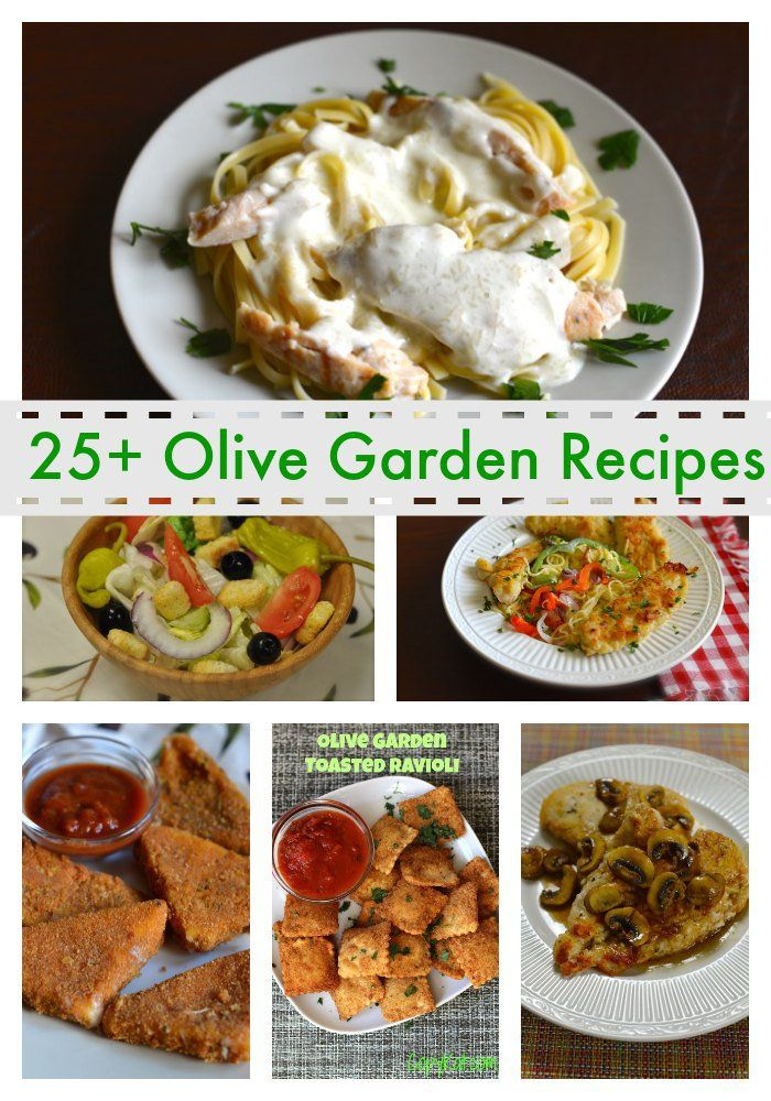 Here is a large collection of Olive Garden recipes you can recreate at home. Features copycat recipes for their salad dressing, breadsticks, and more.