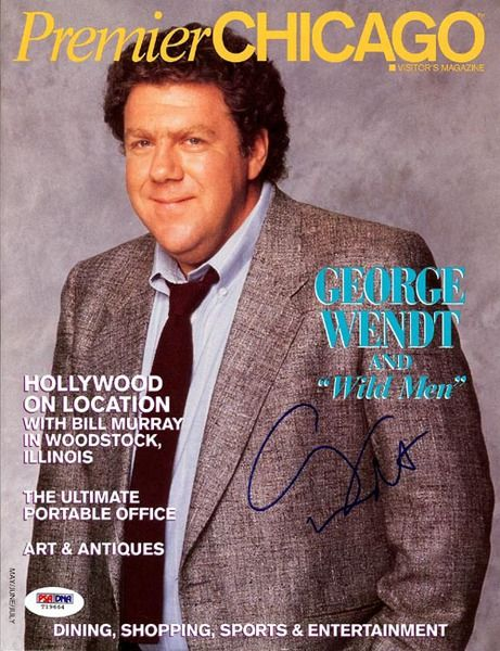 This is a magazine that has been hand signed by George Wendt. It has been authenticated by PSA/DNA and comes with their sticker and matching certificate of authenticity.