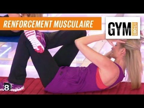 Cours gym : renfort musculaire 1 : Taille abdos & fessiers - YouTube