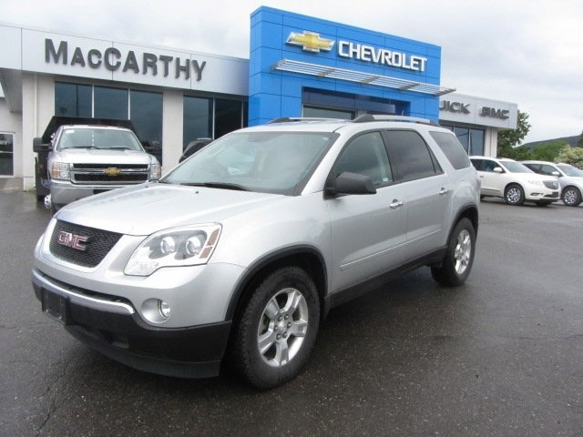 This 2012 Acadia is perfect for someone who needs mini-van seating options but doesn't want the mini-van. Smaller than other vehicles with the third-row seating the Acadia is an agile, luxurious SUV with plenty of room for every family member. Click to book your test drive today.