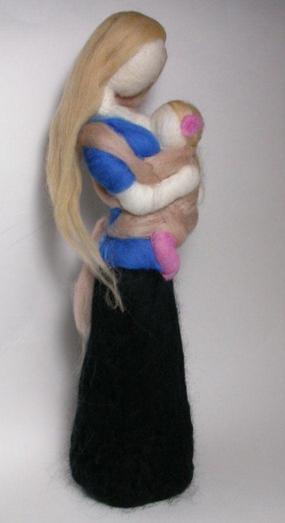 Needle Felted Wool Breastfeeding Babywearing by radishwoolworks