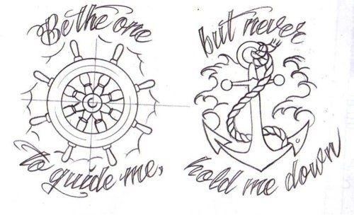 Sweet nautical tattoo design