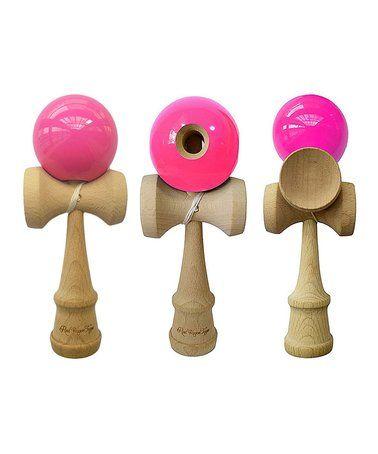 Another great find on #zulily! Pink Kendama Toy - Set of Three #zulilyfinds