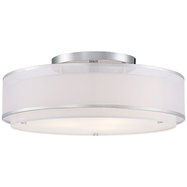 Possini Euro Design Double Organza 20-Inch-W Ceiling Light - #EU4R270 - Euro Style Lighting