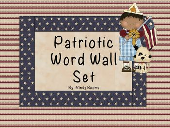 Included:- Patriotic Word Wall Posters A-Z- 300 Sight Word Cards Plus a Blank…