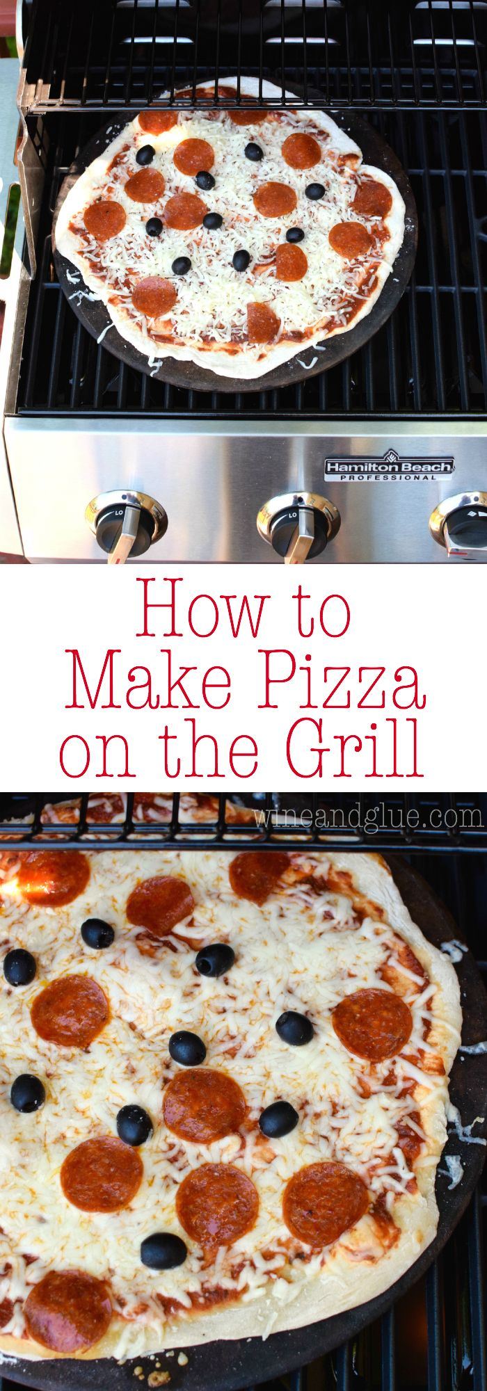 How to Make Pizza on the Grill! This is our absolute favorite way to make pizza, and we do it once a week in the summer.: