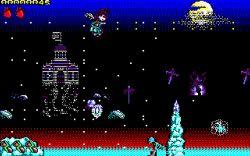「Chibi Akumas」は英国に人気の「Amstrad CPC」のパソコンに本格的の64k 8ビットゲームです #chibiakumas #chibi #akuma #retrogames #retrogaming #gothic #amstradcpc #8bit #チビ #ちび #悪魔