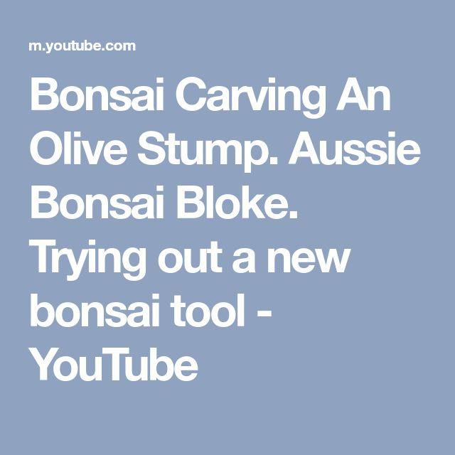 Bonsai Carving An Olive Stump. Aussie Bonsai Bloke. Trying out a new bonsai tool - YouTube