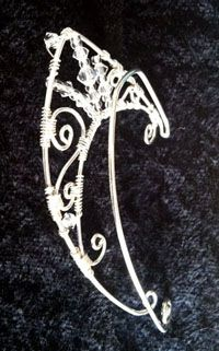 Back Side of our Wire Fairy Elf Ears.... On www.StarlitSkies.com