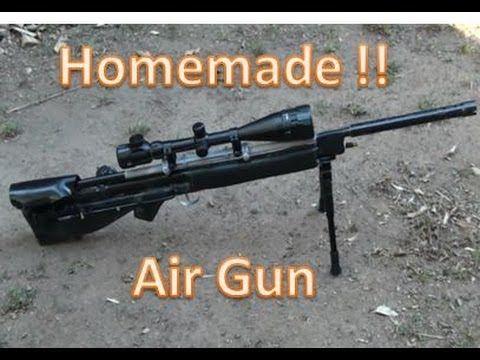 HOMEMADE Air Power Sniper Rifle Basic Tutorial PVC Air gun POWERFUL !! - YouTube