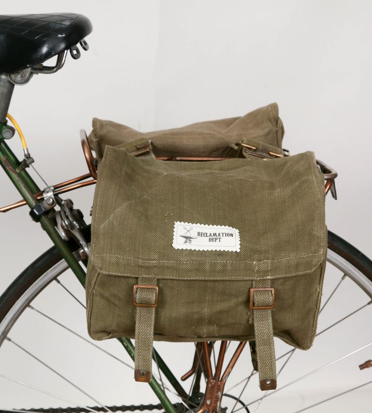 British Military Bicycle Panniers – Set of 2   Accessories Bike   Reclamation Department  