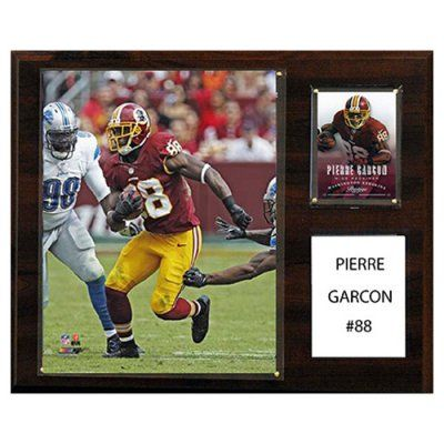 C and I Collectables NFL 15W x 12H in. Pierre Garcon Washington Redskins Player Plaque - 1215GARCONWASH