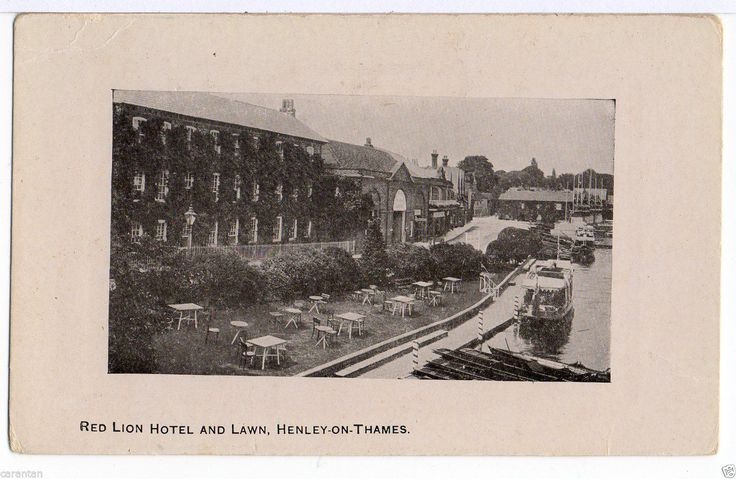 HENLEY-ON-THAMES. Red Lion Hotel and Lawn. Scarce early PC. | eBay