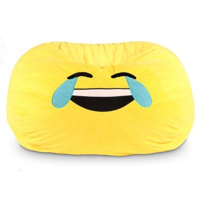 GoMoji Emoji Tears of Joy Bean Bag Chair - http://delanico.com/bean-bag-chairs/gomoji-emoji-tears-of-joy-bean-bag-chair-682994023/