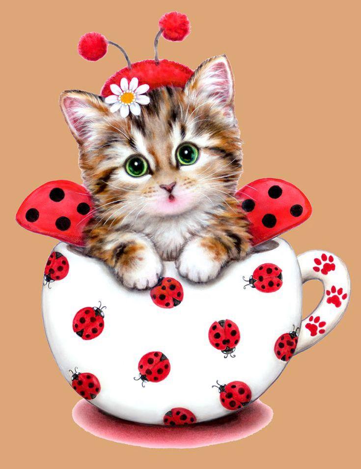 Рада открытка, открытки с кошкой и надписью