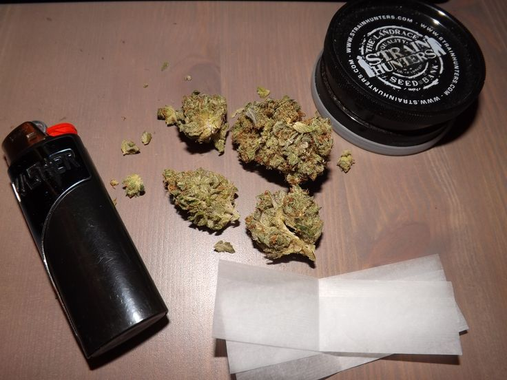 Getting ready to roll up some Strawberry Diesel
