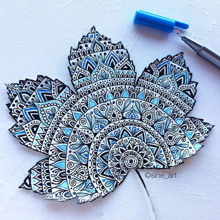 Art Ed Central l0ves this tangled leaf by @lilystangles •